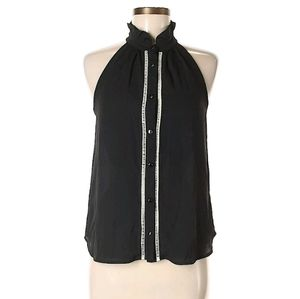 Monetary sleeveless blouse